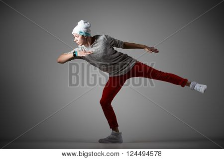 Male Dancer Practicing