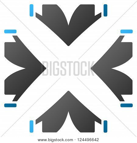 Tent Camp vector toolbar icon for software design. Style is a gradient icon symbol on a white background.