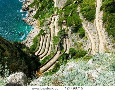 The beautiful Capri island, via Krupp. Italy