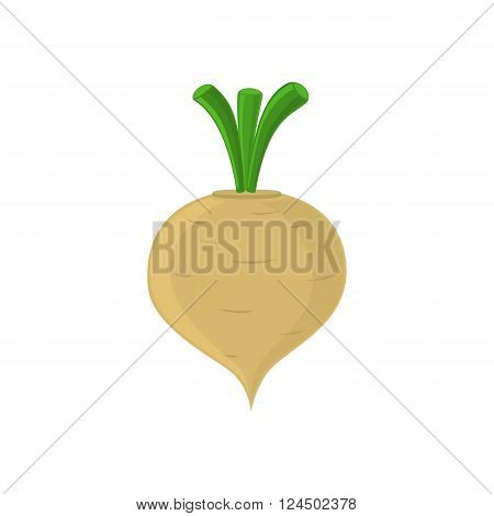 Turnip icon isolated on white background. Vector illustration.