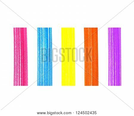 Set of abstract color elements on white background for design
