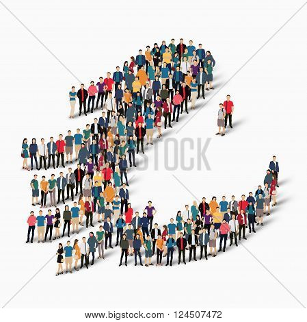 Isometric set of styles, horse , animal, web infographics concept  illustration of a crowded square, flat 3d. Crowd point group forming a predetermined shape. Creative people. - Vector Illustration. Stock vector.