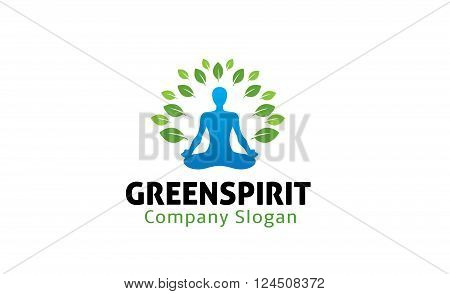 Green Spirit Creative And Symbolic Logo Design Illustration