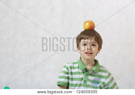 A Boy And An Apple