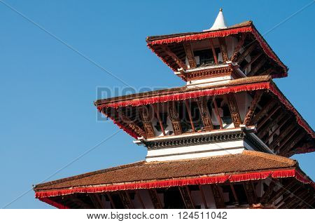 Kathmandu Durbar Square ancient multistoried temple Nepal