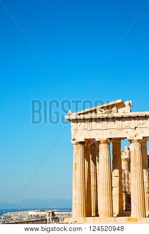 Statue Acropolis     Place       In Greece   Old Architecture