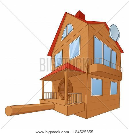 Illustration of the large and comfortable bird house