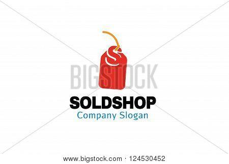 Sold Shop Creative And Symbolic Logo Design Illustration
