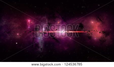 Bright Space Star Field
