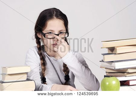 teenager girl hates the learning