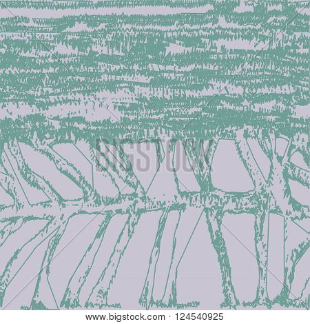 Seamless abstract pattern resembling skeleton fish or threads