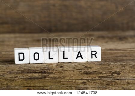 The Word Dollar Written In Cubes