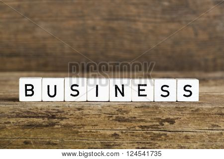 The Word Business Written In Cubes
