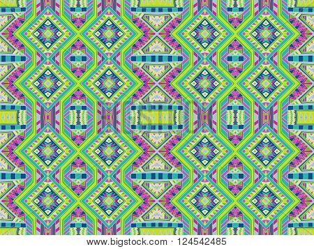Background Tribal Monogram Colorful Aztec Texture 2
