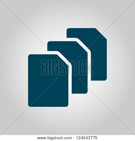 File Icon In Vector Format. Premium Quality File Icon. Web Graphic File Icon Sign On Grey Background