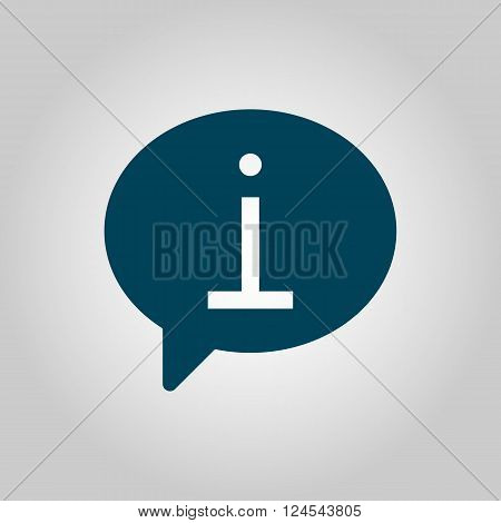Info Icon In Vector Format. Premium Quality Info Icon. Web Graphic Info Icon Sign On Grey Background
