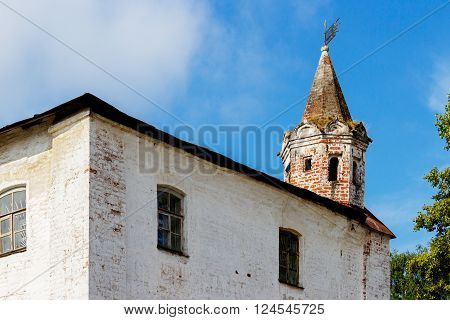 The turret on the wall of the Vologda Kremlin. Russia