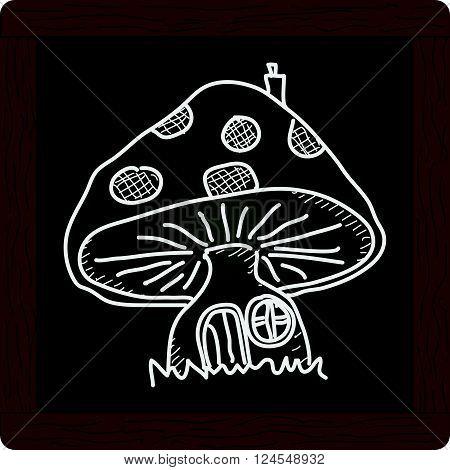 Simple Doodle Of A Mushroom