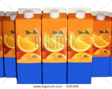 Packs Made Of Cardboard For Orange Juice