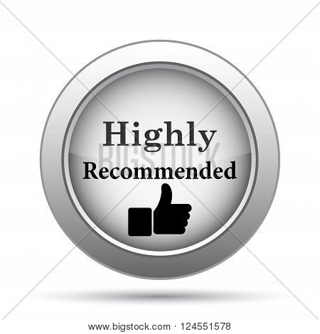 Highly recommended icon. Internet button on white background.