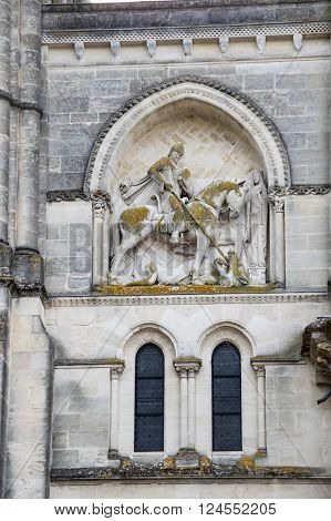 Facade of the Eglise Sainte-Croix (Church of the Holy Cross) is a Roman Catholic abbey church in Bordeaux southern France