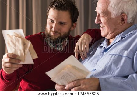 Image of memories and parental love of father to son