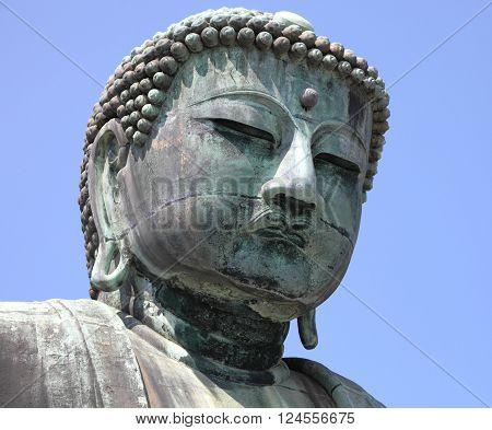 historic Buddha of Kamakura, landmark in Japan