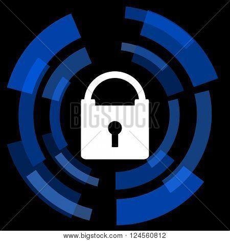 padlock black background simple web icon
