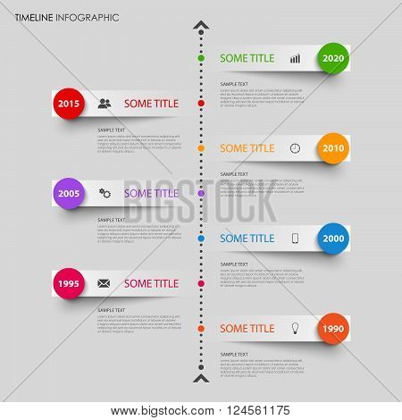 Time line info graphic with bent design stripes template vector eps 10