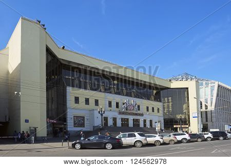 MOSCOW, RUSSIA - MARCH 28, 2016: View of the building of Moscow Nikulin Circus on Tsvetnoy Boulevard Building 13 landmark