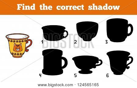 Find The Correct Shadow, Cup
