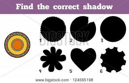 Find The Correct Shadow, A Plate With Geometric Pattern