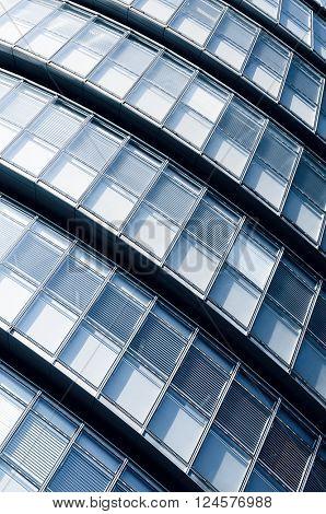 Close up of office windows