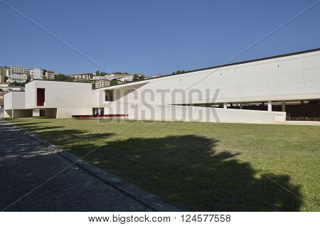 COIMBRA, PORTUGAL - AUGUST 4, 2015: Saint clare the Older Interpretative Centre designed by the architects Alexandre Alves and Sergio Fernandez in the city of Coimbra in Portugal.