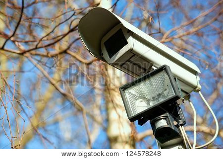 Security video camera for private property surveillance