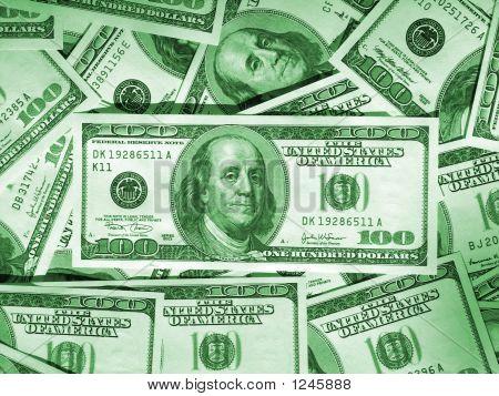Green Money Background