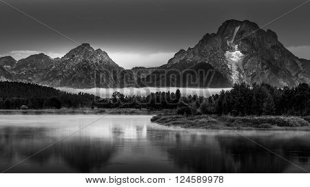 Grand Teton Landscape Oxbow Bend