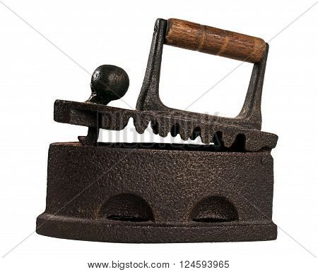 Old fashioned aged metal iron tool for home