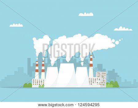 Cartoon industry factory