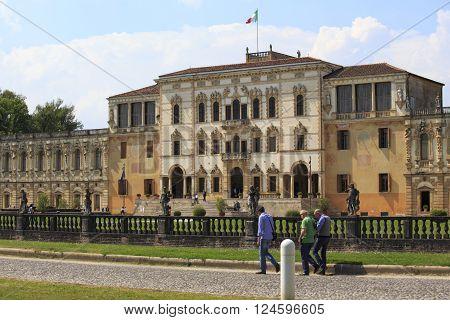 Piazzola sul Brenta Italy - May 18 2014: fabulous villa Contarini in Piazzola sul Brenta in Italy