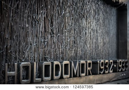 Holodomor Memorial In Washington