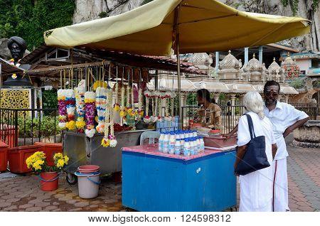 Kuala Lumpur/Malaysia - September 2012: Hindu temple complex Batu Caves located on the outskirts of Kuala Lumpur in Gombak district Malaysia.