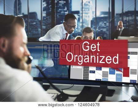 Get Organized Management Set Up Organization Plan Concept