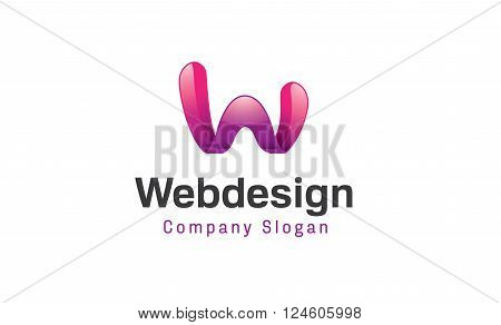 Creative And Symbolic W Letter Design Illustration