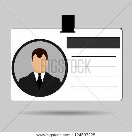 ID card Identification card icon flat design vector