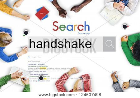 Handshake Greeting Bargain Agreement Deal Concept