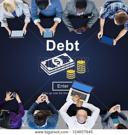 Debt Loan Credit Money Financial Problem Concept