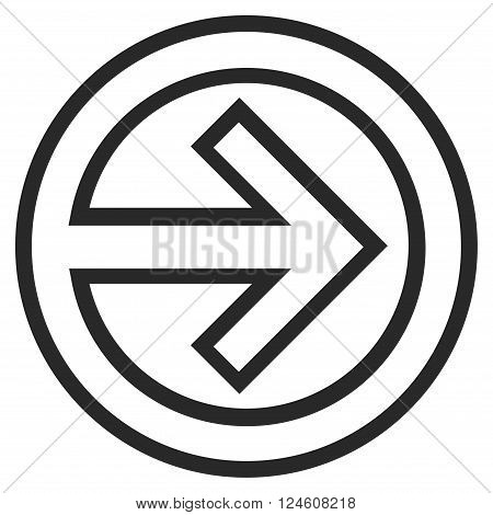 Import vector icon. Style is stroke icon symbol, gray color, white background.