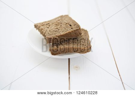 Straight Rye Bread On White Table