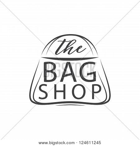 The bag shop.Vector. Element for your design a bag store. Isolated on white background. Hand Drawn